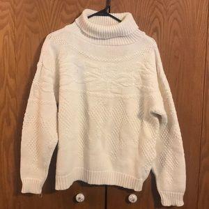 Vintage Eddie Bauer Cotton Turtleneck Sweater sz L